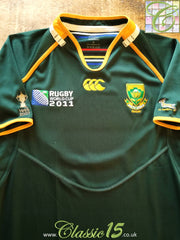2011 South Africa Home World Cup Pro-Fit Rugby Shirt. (M)