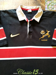 1999/00 South Africa Leisure Rugby Shirt Black (3XL)