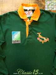 1995 South Africa Home World Cup Rugby Shirt (M)