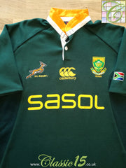 2009/10 South Africa Home Rugby Shirt (S)