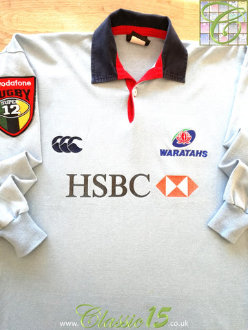 2002 Waratahs Home Super 12 Rugby Shirt. (S)