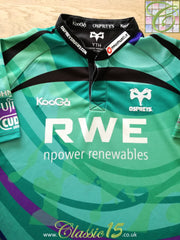 2009/10 Ospreys European Rugby Shirt (Y)
