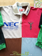 1996/97 Harlequins Home Rugby Shirt. (XL)