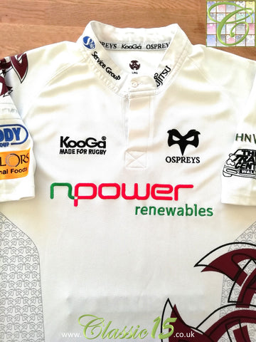 2008/09 Ospreys Away Rugby Shirt (L)