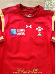 2015 Wales Home World Cup Player Issue Rugby Shirt (M) (Fitted)