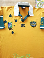 2003 Australia Home World Cup Rugby Shirt (L)