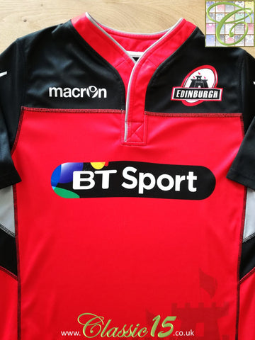 2016/17 Edinburgh Rugby Player Issue Training Shirt (M)