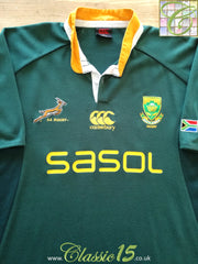 2009 South Africa Home Rugby Shirt (L)