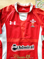 2011/12 Wales Home Player Issue Rugby Shirt (S)