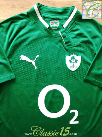 2011/12 Ireland Home Pro-Fit USP Rugby Shirt (M)