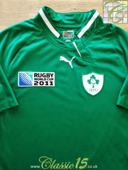 2011 Ireland Home Pro Fit USP World Cup Rugby Shirt (XL)