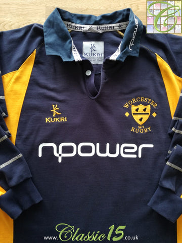 2004/05 Worcester Warriors Home Rugby Shirt. (M)