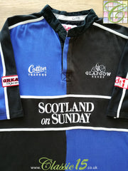 2003/04 Glasgow Home Rugby Shirt (XXL)