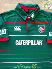 2014/15 Leicester Tigers Home Rugby Shirt (Size14) (S)