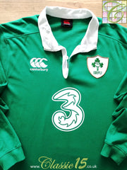 2015/16 Ireland Home Rugby Shirt. (L)
