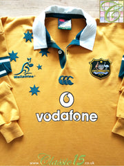2002/03 Australia Home Rugby Shirt. (XL)