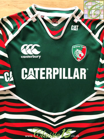 2012/13 Leicester Tigers Home Pro-Fit Rugby Shirt (L)