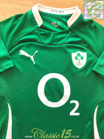 2009/10 Ireland Home Pro-Fit Rugby Shirt (S)