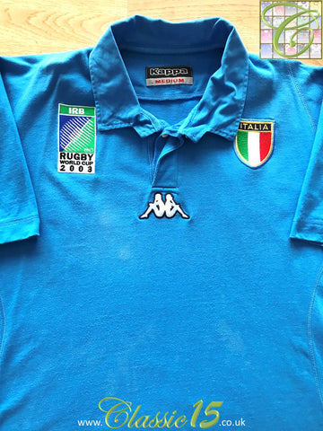 2003 Italy Home World Cup Rugby Shirt (M)