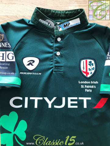 2010 London Irish St. Patrick's Day Party Pro-Fit Rugby Shirt (M)