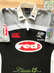 2001 Sharks Home Super 12 Rugby Shirt (XL)