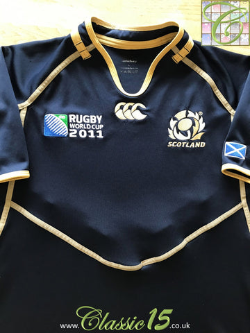 2011 Scotland Home World Cup Pro-Fit Rugby Shirt (L)