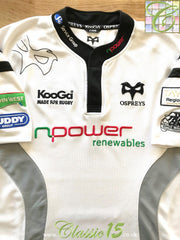 2007/08 Ospreys Away Rugby Shirt (L)
