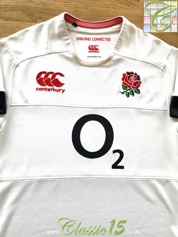 2013/14 England Home Pro-Fit Rugby Shirt (S)