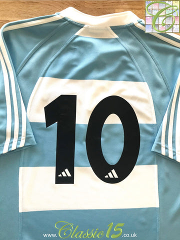 2005 Argentina Home Rugby Shirt #10 (M)
