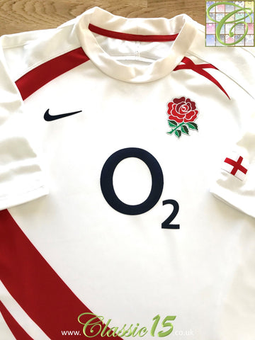 2007/08 England Home Pro-Fit Rugby Shirt (M)