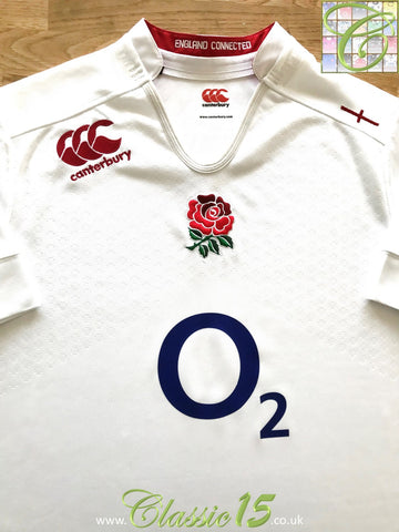 2014/15 England Home Pro-Fit Rugby Shirt (L)
