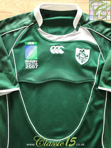 2007 Ireland Home World Cup Pro-Fit Rugby Shirt (S)