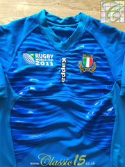 2011 Italy Home World Cup Player Issue Rugby Shirt (M)