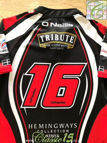2012/13 Cornish Pirates Home Championship Rugby Shirt #16 (XXL)