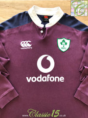 2016/17 Ireland Away Vapodri Rugby Shirt. (M)