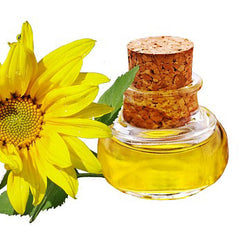 Sunflower oil in a small glass jar