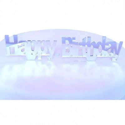 Happy Birthday Mirrored Cake Topper