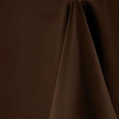 Mocha Brown Square Tablecloth