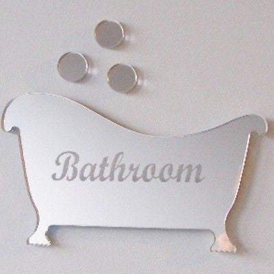 Engraved Bathroom Door Sign