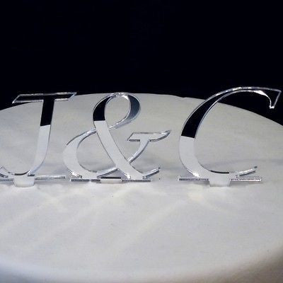 Personalised Initials Wedding Cake Toppers
