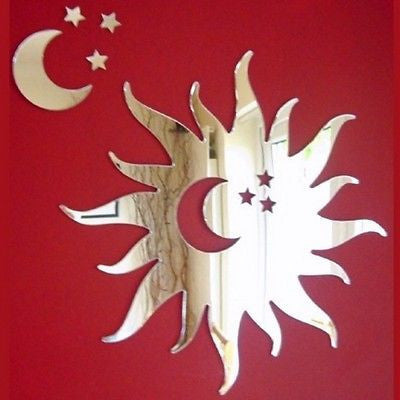 Sun with Cut-Out Moon & Stars