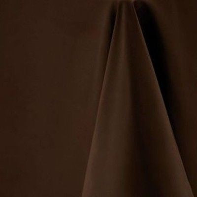 Mocha Brown Rectangular Tablecloth