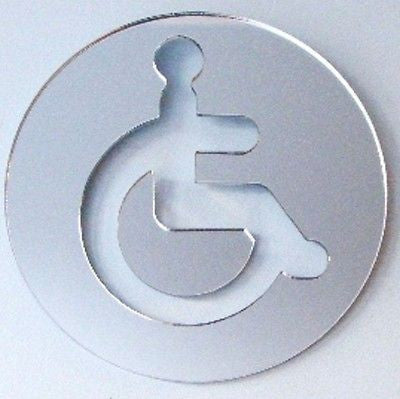 Round Disabled Toilet Door Sign