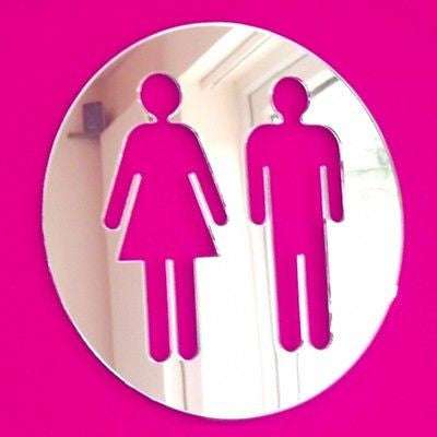 Male & Female Round Toilet Door Sign