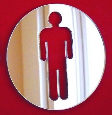 Male Round Toilet Door Sign