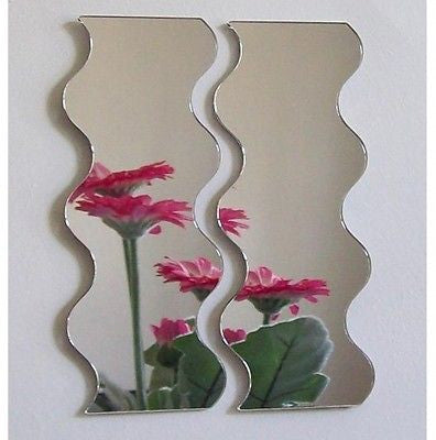 Pair of Wave Mirrors