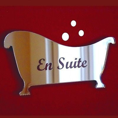 Engraved En Suite Door Sign