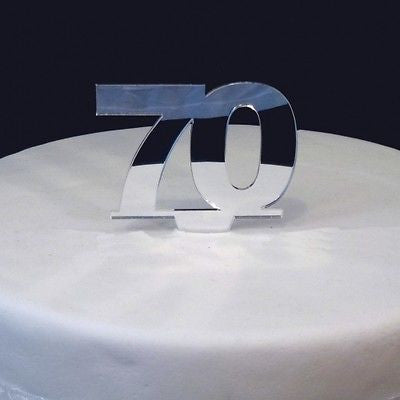 70 Mirrored Cake Topper