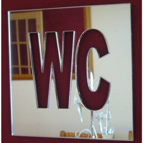 Square WC Sign