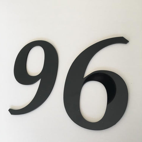 Black Gloss, Flat Finish, House Numbers - Book